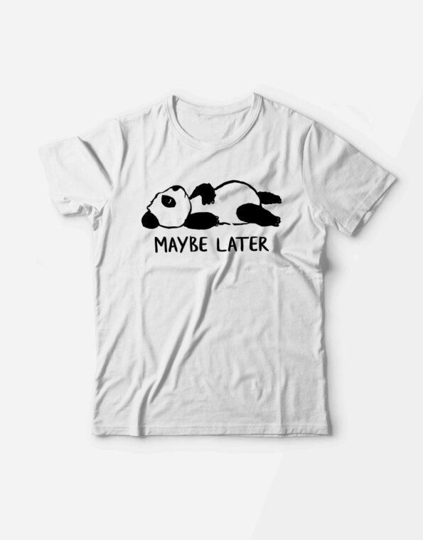 Футболка «Maybe later»