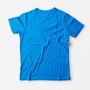 Футболка голубая для печати
