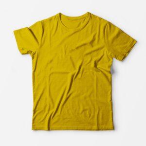 Футболка желтая для печати