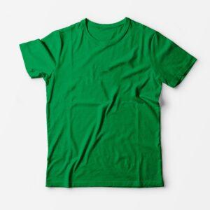 Футболка зелёная для печати