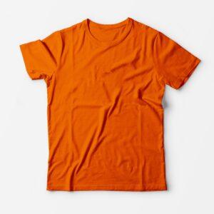Футболка оранжевая для печати
