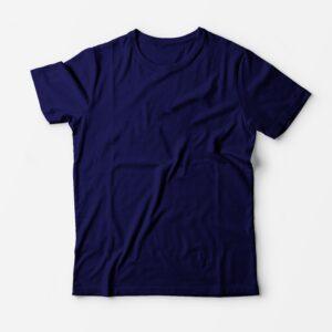 Футболка темно-синяя для печати