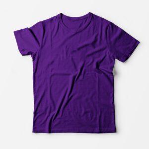 Футболка фиолетовая для печати