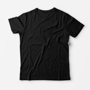 Футболка чёрная для печати