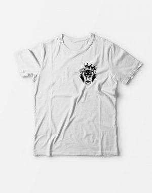Футболка Парные Лев белая