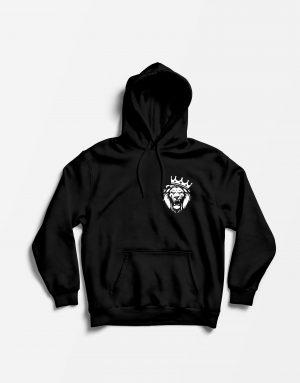 Толстовка Лев черная