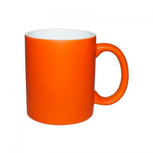 Кружка неоновая оранжевая