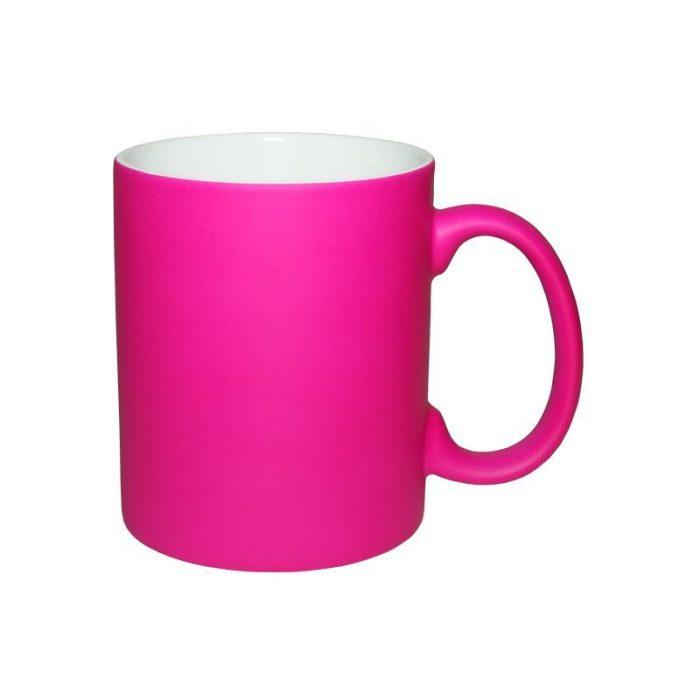 Кружка неоновая розовая