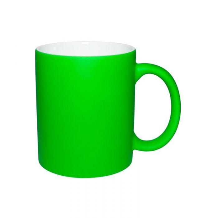 Кружка неоновая зеленая