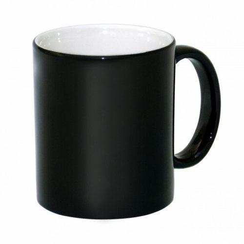 Кружка хамелеон матовая черная